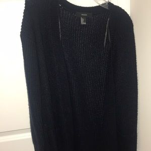 forever 21 navy blue cardigan